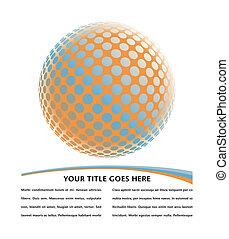 globe, coloré, numérique, design.