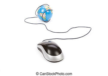 globe, computer muis