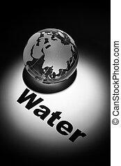 Global Water crisis - globe, concept of Global Water crisis