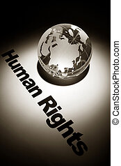 Human Rights - globe, concept of Human Rights