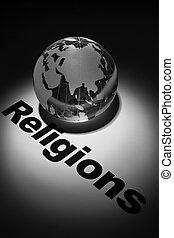 religions - globe, concept of religions