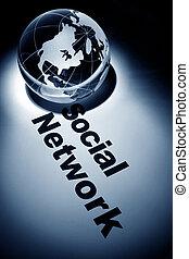 Social Network - globe, concept of Social Network
