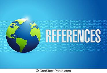 globe, concept, références, signe