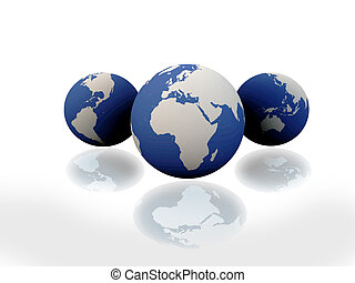 globe, continents