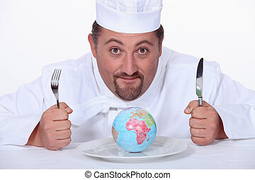 Globe cook on the plate