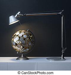 Globe Created Of Euro Coins