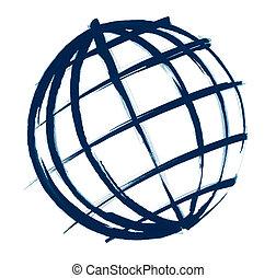 globe, croquis, illustration