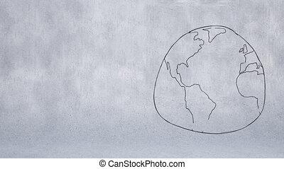 globe, croquis