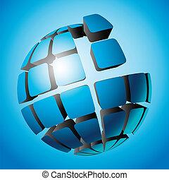 Globe design.