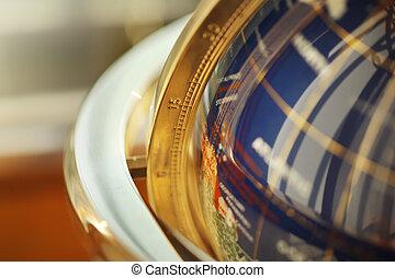 Globe detail - Macro detail of beautiful stone globe....