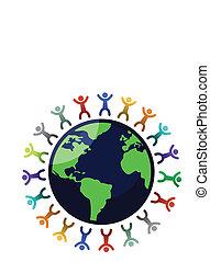 globe, diversité