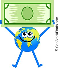 globe, dollar