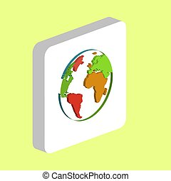 Globe Earth computer symbol for your business project