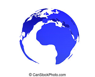 globe earth icon 3d . 3d rendered illustration