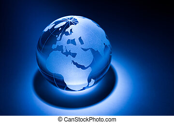 Earth planet, Transparent globe for background