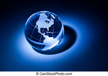 Globe - Earth planet,Transparent globe for background