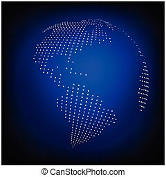 Dotted world map background night earth globe globalization globe earth world map abstract dotted vector background blue wallpaper illustration gumiabroncs Image collections