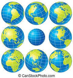 globe, ensemble