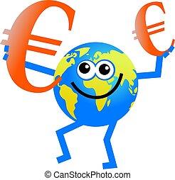 globe, euro