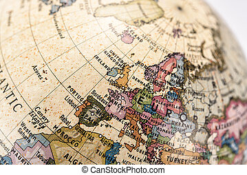 Globe europe part of a globe with map of europe pictures search close up of europe in the colorful world map globe europe tablet pad gumiabroncs Images