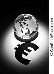 globe, euroteken