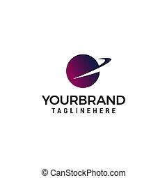 globe fast logo design concept template vector