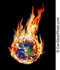 globe fire - globe in the fire and smoke