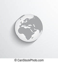 globe flat web icon.
