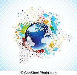 globe, fond