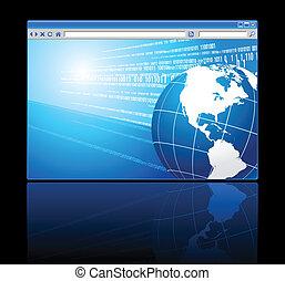 globe, fond, numérique
