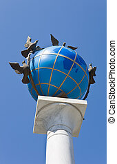 globe, formulaire, monument