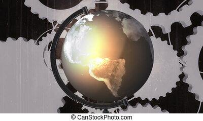 Globe Gears Grunge Loop X77331