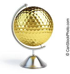 globe golf ball sign