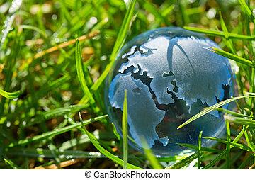 globe, gras, glas