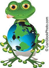 globe, grenouille