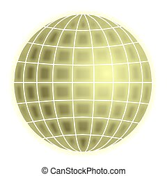 globe, grille