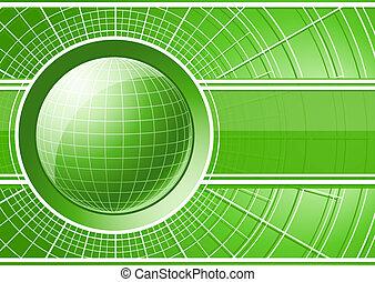 globe, groene achtergrond