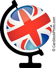 globe, icône, anglaise, parler, concept, vous
