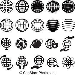 globe, icône