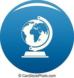 Globe icon blue vector