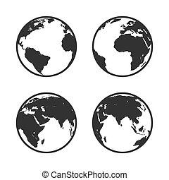 Globe icon. Earth symbol