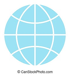Globe icon. Flat design vector symbol