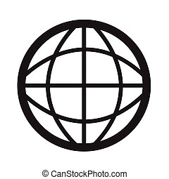Globe icon Illustration design
