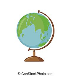 Globe icon in flat style.