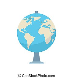 Globe icon in flat style vector illustration