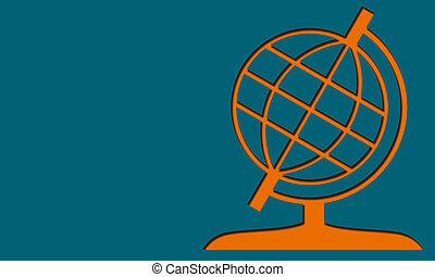 Globe Icon isolated on blue background