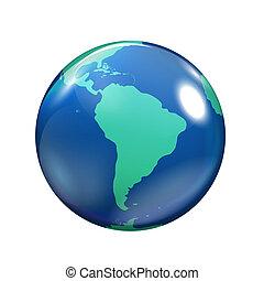 Globe Icon isolated on white background  illustration