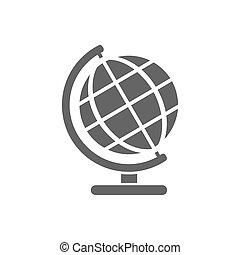 Globe icon on a white background