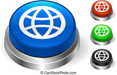 Globe Icon on Internet Button