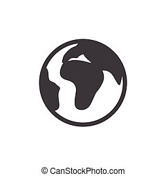 globe icon on white background , Earth , vector